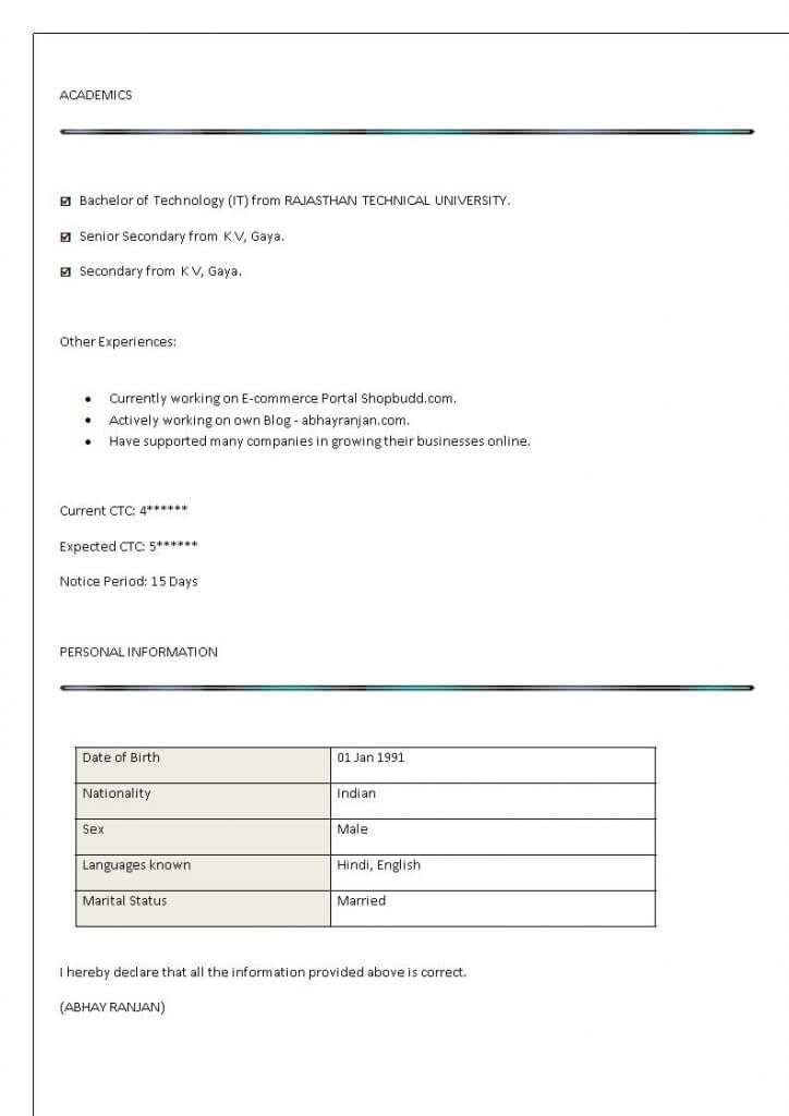 digital marketing resume sample example