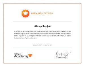 inbound marketing certified professional