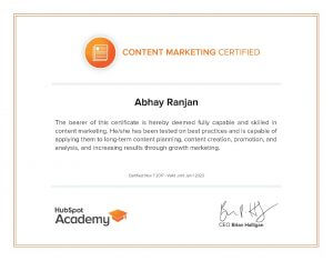 content mrketing certified professional