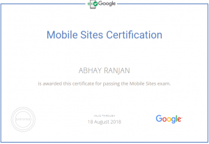 Mobile Site Google Certified Professional