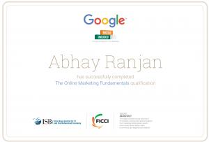 google certified online marketing professional