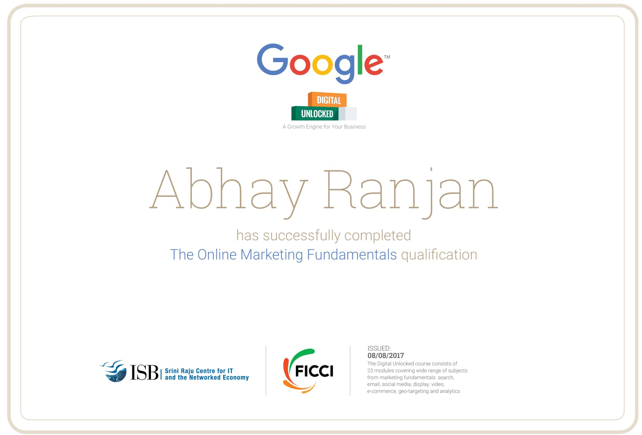 Digital Marketing Training Institute Course Jaipur Abhayranjan
