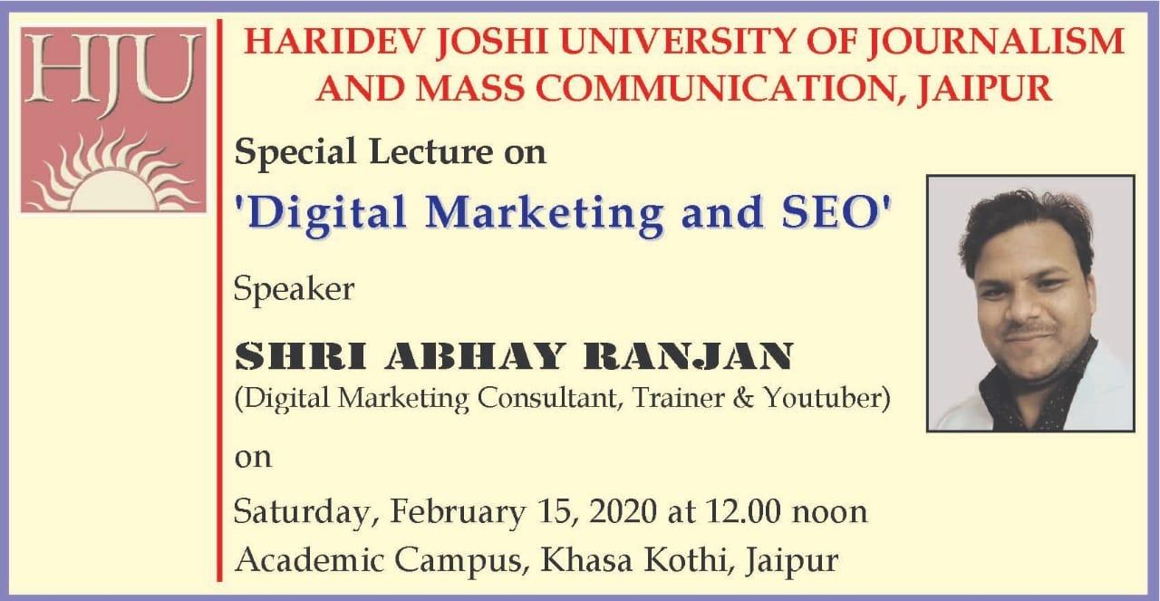 digital marketing rajasthan university